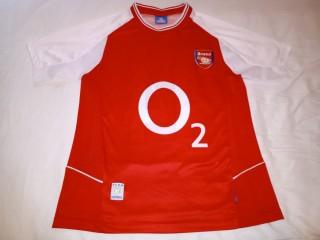 Tricou fotbal de colectie cu Arsenal Londra