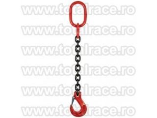 Dispozitive de ridicare din lant cu un brat si carlig rotativ cu siguranta