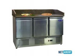 Masa frigorifica preparare pizza, blat granit, Ideal Inox