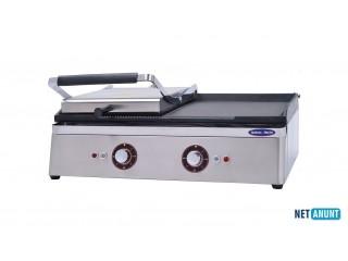 Toaster si gratar, Ideal Inox, placa striata si neteda, 70 cm