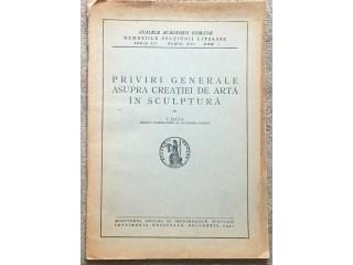 Priviri generale asupra creatiei de arta in sculptura, I. Jalea, 1947